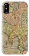 Mercators Map Of Asia IPhone Case
