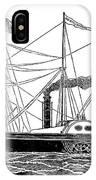 Merchant Steamship, 1838 IPhone Case