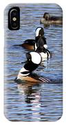 Mergansers All In A Row IPhone Case