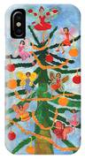Merry Christmas Tree Fairies In Progress IPhone Case