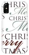 Merry Christmas Words IPhone Case