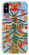 Merry Xmas Tree Fairies IPhone Case