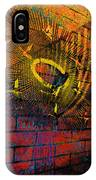 Metal Sculpture Against A Brick Wall IPhone Case