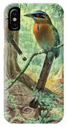 Mexican Motmots Are Perched On Jungle IPhone Case