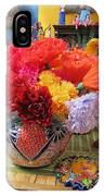 Mexican Paper Flowers And Talavera Pottery IPhone Case