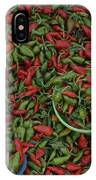 Mexican Peppers At An Open Air Market IPhone Case