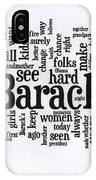 Michelle Obama Wordcloud At D N C IPhone Case
