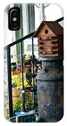 Milkcan And Birdhouse IPhone Case
