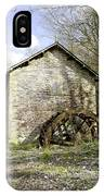 Mill And Water-wheel Near Ashford-in-the-water IPhone Case