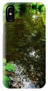 Mill Pond Stream In Green IPhone Case