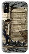 Miners In A Timbered Tunnel IPhone Case