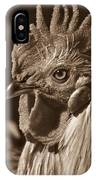 Mister Rooster From The Barnyard IPhone Case