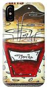 Mocha Beans Original Painting Madart IPhone Case
