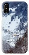 Moeciu Village In Winter IPhone Case