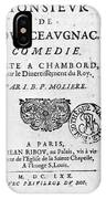 Moliere (1622-1773) IPhone Case