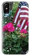 Mom's Pink Geranium  IPhone Case