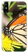 Monarch Feeding IPhone Case