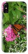Monarch In The Garden   IPhone Case
