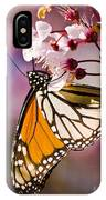 Monarch On A Flower IPhone Case