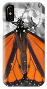Monarch On Black And White IPhone Case