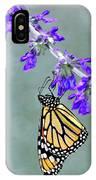 Monarch On Purple IPhone Case