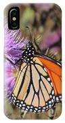 Monarch On Thistle II IPhone Case