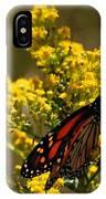 Monarchs On Yellow IPhone Case