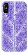 Monotone Close Up Of Leaf IPhone Case