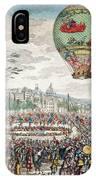 Montgolfier Balloon Le Flesselles IPhone Case