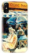 Montreal Cafe City Scenes Prince Arthur And Duluth Street IPhone Case