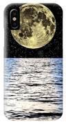 Moon Over The Sea, Composite Image IPhone Case