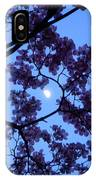 Moon Through Dogwood IPhone Case