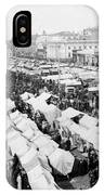 Moscow Russia - The Great Sunday Market - C 1898 IPhone Case