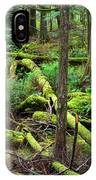 Moss And Fallen Trees In The Rainforest Of The Pacific Northwest IPhone Case