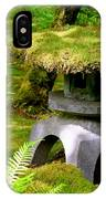 Mossy Japanese Garden Lantern IPhone Case