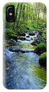Mossy Rocks And Water   IPhone Case
