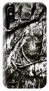 Mossy Trees In Black And White 2 IPhone Case