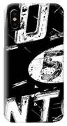 Motel Sign Black And White IPhone Case