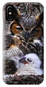 Mother And Baby Owl IPhone Case