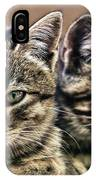 Mother And Child Wild Cats IPhone Case