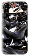 Motorcycles - Harleys And Hondas IPhone Case