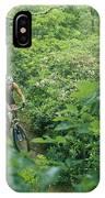 Mountain Biker On Single Track Trail IPhone Case
