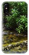 Mountain Stream And Rhododendron IPhone Case