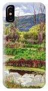 Mountain Valley Marsh - Hdr IPhone Case