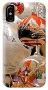 Mouth-blown Hand Painted Christmas Ornaments IPhone Case
