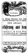 Mozart: Seraglio, 1782 IPhone Case