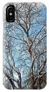 Mulberry Tree In Snow IPhone Case