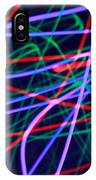 Multi-colored Glowing Light Streaks IPhone Case