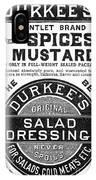 Mustard Ad, 1889 IPhone Case