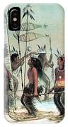 Native American Indian Snow-shoe Dance IPhone Case